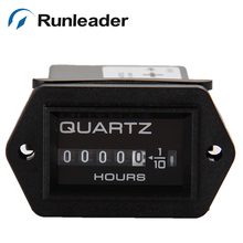 ( 20pcs/lot) Runleader HM004 DC Powered Mechanical Hour Meter Used For Boat,Mower,Tractor,Machine,Pump,Equipment,Snowmobile