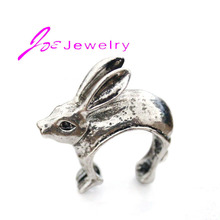 3pcs/lot Big Size Bunny Ring Unique Animal Jewelry Rabbit Wrap Finger Rings Cute Adjustable Wholesale