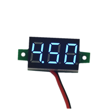 DC 3-30V Blue led car digital volt voltage panel meter gauge auto voltmeter battery monitor(China)