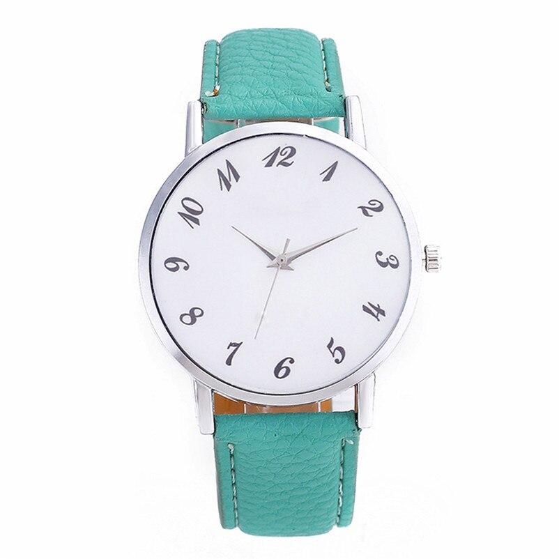 2018 High Quality women fashion casual watch luxury dress Beautiful Fashion Simple Watch Leather band Watch Reloj mujer J06#N (4)
