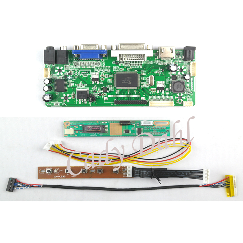 TL LCD Controller Converter Monitor Kit for 1280X800 LP141WX3 B1 HDMI+VGA+DVI