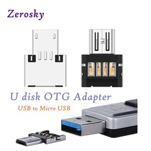 Zerosky OTG Adapter USB to Micro USB Converter USB Flash Drive Cable Connector For Android Smartphone Tablet PC With OTG