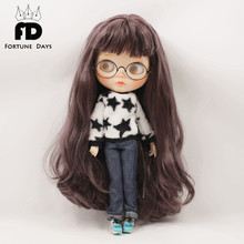 Free shipping blyth doll icy licca body Plush clothes and jeans suit 1/6 30cm(China)