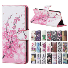 Magnetic Wallet Handbag Book cartoon leather Cover Case sFor Flip Sony Xperia XA PP10 F3111 F3112 F3113 Phone cases coque funda(China)