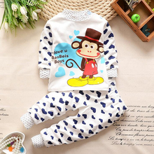Cartoon Design 2T~6T Autumn Winter Baby Boys Girls Cotton  Long Sleeve Clothing Set For Newborn Infant Sleep Wear Clothes Set