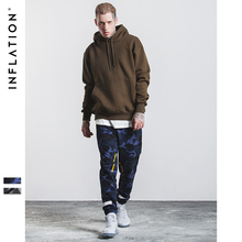 INFLATION 2017 New Arrivals Camouflage Pants Fashion New Mens Pants Spliced Bamboo Cotton Camo Jogger Casual Pants Men 334W17(China)
