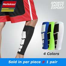 1 PCS 4 Colors Compression Leg Sleeve Light Reflective Night Running Leg Warmers Football Basketball Sports Safety Calf Support