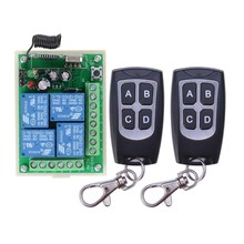 High Sensitivity For DC 12V 4CH Small Channel Wireless Remote Control Controller Radio Switch 315mhz 200m Transmitter Receiver