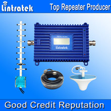 Lintratek 3G Repeater 2100 UMTS Mobile Repeater 70dB Gain Signal Booster LCD Display Amplifier 2100MHz Repetidor Yagi Kit 3G S38