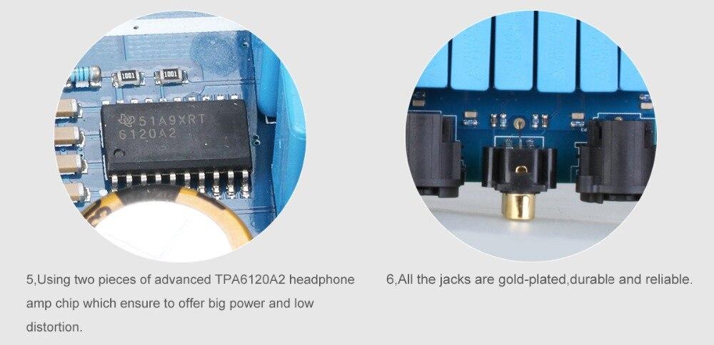 SMSL sAp-10 Balance Desktop Headphone AMP HIFI Audio High Power Amplifier 2*TPA6120A2 Chip RCA/XLR input 6.35mm/Balanced Output