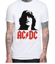 ACDC Logo Angus Young Rock Metal Baseball Jersey T-shirt Tee Men Short Sleeve T Shirt Designs Customized Shirt Cool Tops