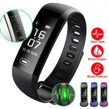 50 Words Display Smart Wristband Blood Pressure Oxygen Heart Rate Monitor Fitness Bracelet For IOS/Xiaomi PK Miband 2/Fitbits 3(China)