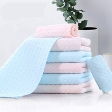 Luxury Hotel & Spa 25x50cm Wash Cloth Set of 10  Combed Cotton - Organic, Eco-Friendly Children Face Towels Washcloths Soft