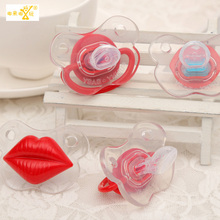 4 pieces new 2017  Funny Pacifier Dummy With dust cover baby soothers pacifiers babies baby food Silicone nibbler nipple