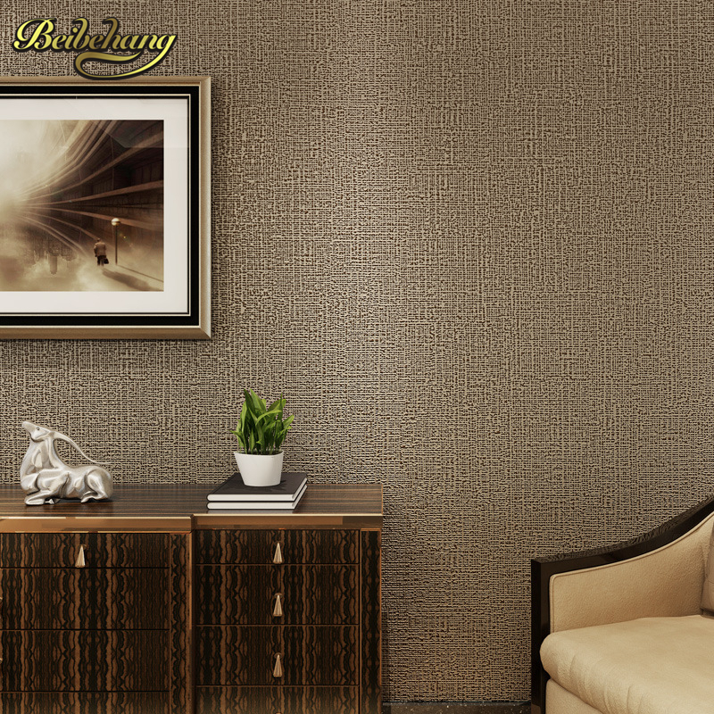 beibehang papel de parede Non-woven plain clothing minimalist modern bedroom living room wallpaper diatom mud hotels wall paper<br>