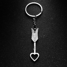 1Set Arrow Bow Love Keyrings Couples Key Chain Desk Sets Silver Lovers Keyrob Jewelry Gift School Stationery Office Supplies(China)