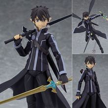 "Buy Free 6"" Sword Art Online II Fairy Dance Kirito Boxed 14cm PVC Action Figure Collection Model Doll Toy Figma 289 for $15.99 in AliExpress store"