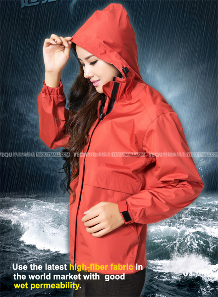 Korean Syle burberry_ men Women Outdoor Rain Jacket Casual Hooded Trench Sports Girls Clothes Windproof Red Rain Coat Fishing<br>