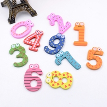 10pcs 0-9 Wood Digital Magnetic Wall Sticker For Home Party Wedding Magnet Decoration Kids Literacy Preschool Toy Fridge Magnets