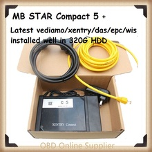 2017 Best MB STAR C5 with latest software SDConnect C5 Multiplexer Diagnostic Tool WIFI upgrade of MB STAR C4 Multi-language