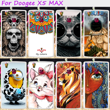 Soft TPU Rubber Cool Skull Minions Phone Cases For Doogee X5 Max X5 Max Pro 5.0 inch Phone Cover Housing Silicone Accessories