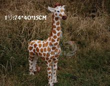 large 74x15x40cm simulation giraffe toy lifelike model home decoration birthday gift t044