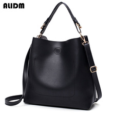 Buy 2017 Famous Brand Women Large Capacity High Pu Leather Handbag Simple Shoulder Bags Ladies Solid Totes Bolsas Femeninas for $17.79 in AliExpress store