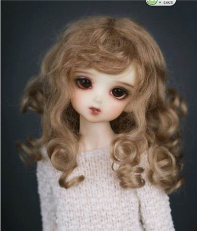 D20313 24CM  size 9-10 inch mohair doll wigs  Princess Long curly bjd wig<br>