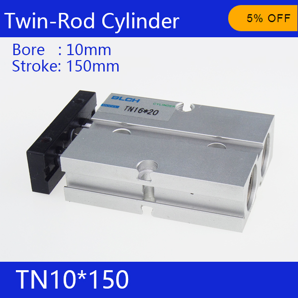 TN10*150 S Free shipping 10mm Bore 150mm Stroke Compact Air Cylinders TN10X150 Dual Action Air Pneumatic Cylinder<br><br>Aliexpress