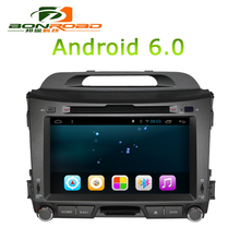 2Din 8Inch Android 6.0 Car DVD Player For Sportage R 2011 2012 2013 2014 2015 Car PC Head Unit GPS Navigation Radio Vedio Stereo