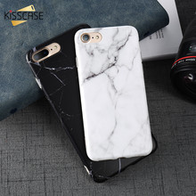 KISSCASE Marble Phone Case For iPhone 6 7 6S 5 5S Se 8 Plus X Soft TPU Mobile Stone Cover For Apple 8 Plus 7 6 6 S 5 Coque Funda(China)