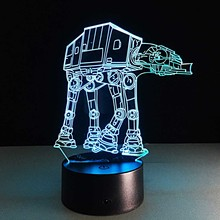 Star Wars ATAT Troop Dog Visual LED Sleeping Nightlight Touch USB Table Lampara Illusion Mood Dimming Lamp Atmosphere 7 Color
