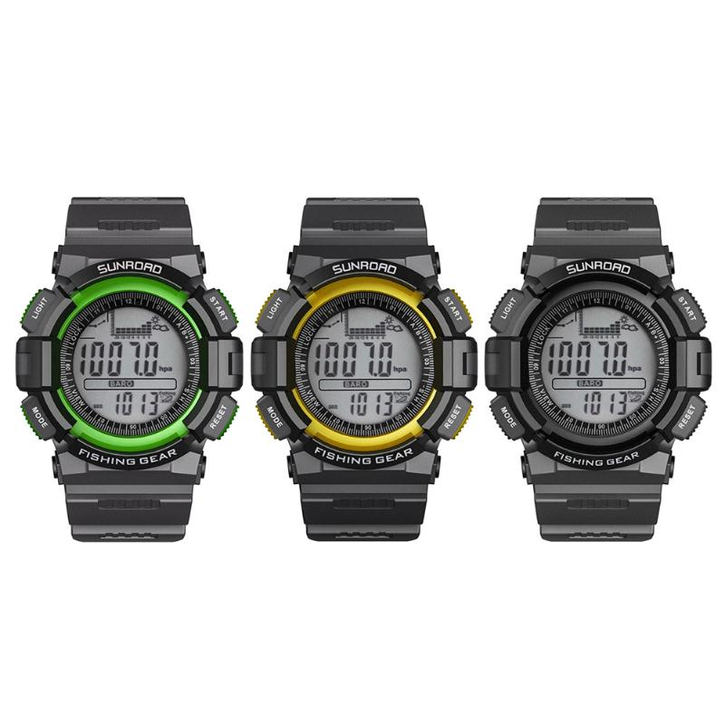 Mutifuctional Digital Men Watches Outdoor Clock Men Hours Fishing Weather Altimeter Thermometer Hour Watch relogio masculino  <br>