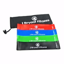 Fitness Resistance Band set 4 Levels Elastic Latex Strength Training Athletic Rubber Loops Bands Workout Fitness Equipment