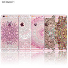 Novelty Colorful Case For iPhone 6 6S 6Plus 6sPlus Floral Paisley Flower Mandala Henna Coque Clear Silicone Soft Cover Fundas