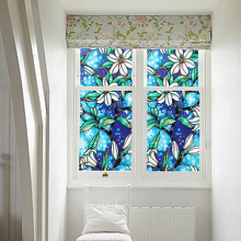 1Pc DIY Home Static Decor Cling Stained Cover Window Film Glass Privacy 45*200cm