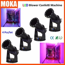 4pcs/lot 1200w LED confetti machine with15*3W RGB co2 led special effects confetti blaster for events halloween christmas