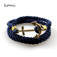 KOMi Anchor Bracelets New Arrival Vintage Retro Bracelets Fashion Jewelry Bracelet Men For Women Best Gift Tom Hope O-162