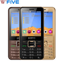Original Phone SERVO V8100 2.8 inch 4 SIM cards 4 standby cellphone Bluetooth Flashlight FM GPRS Russian keyboard Mobile phones(China)