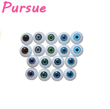Pursue 10 Pairs High Quality 20mm/22mm Doll Eyeballs Half Round Acrylic Doll Eyes Fits 18-22 inch Reborn Bebe Colorful Doll Eyes