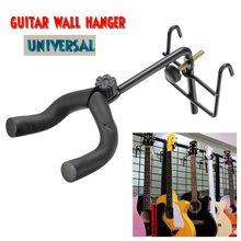 Black Guitar Wall Hanger Holder Stand Classical Electric Guitar Wall Mount Hook Holder Bass Display Guitar Parts & Accessories