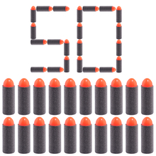 50pcs Dart Refills 3.8cm Pointed-end Hard Head Short Bullet for Nerf Converted Toy Gun - Red + Black(China)