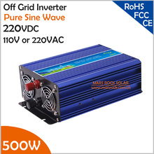 500W 220V DC to AC Off Grid Inverter, Pure Sine Wave Inverter for 110VAC or 220VAC Appliances in Solar or Wind Power System