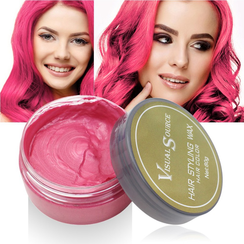 Professional Dynamic Modeling Hair Wax Makeup 5 Colors Hair Dye Wax Hair Color One-time Molding Paste Color Hair Wax New 2018 6