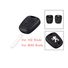NEW 2 buttons remote key shell key blanks car key Shell for Peugeot 307 free shipping