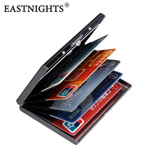 EASTNIGHTS 2017 new arrival High-Grade stainless steel men credit card holder women metal bank card case card box TW2703(China)