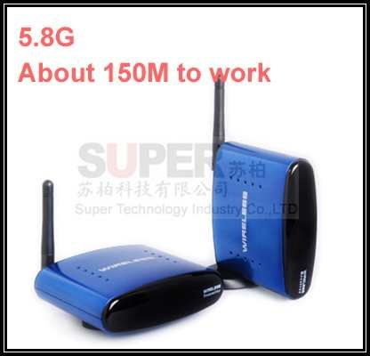 150M to work,Reverse Remote control 5.8G STB wireless sharing device,5.8G transcevier,5.8G Video Audio Transmitter adapter<br><br>Aliexpress