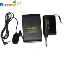 Factory Price Binmer New Wireless FM Transmitter mini Microphone Receiver Lavalier Lapel Clip Mic System AU4 Drop Shipping