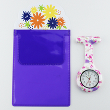 Free Pencil Case FOB Silicone Nurse Watch Doctor Nurse Gift Butterfly Pattern Japenese Movt Brand Hospital Nurse Pocket Watch