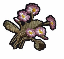 1Pcs Purple Flower Patch Embroidery Applique Floral Applique Lace Motif Iron On Patches Clothes Sewing Accessories(China)